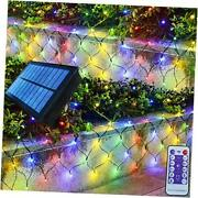 Solar Net Lights For Christmas Decorationsed Remote Outdoor Mesh Multicolor