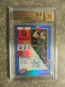 2018-19 Contenders Optic Trae Young Rc Auto Blue /99 Bgs 9.5 / 10 Gem Mint