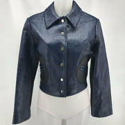 Creatures Of The Wind Navy Patent Jacket Small