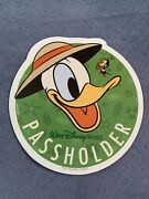 Authentic Disney Annual Passholder Magnet Feat. Donald Duck And Spike The Bee