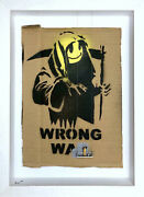 Royand039s People Banksy Scrubbed Out Grin Grim Reaper Wrong War In Hand In Usa W/coa