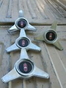 4 Vintage Pontiac Spinners For Hubcaps