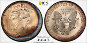 1995 Pcgs Ms68 Colorful Toned American Silver Eagle With A Trueview