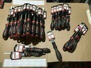 Lot Of 35 Craftsman Cushion Grip Contoured Handle Screwdrivers Slotted Phillips