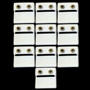New Wholesale Lots 10pcs 0.30 Ct Black And White Diamond Round Stud Earrings