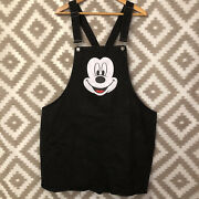 Disney Forever 21 Plus Size 3x Mickey Mouse Denim Overall Jumper Dress