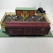 American Flyer S Scale Stockyard W/ 976 Missouri Pacific Car-untested-as Is