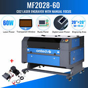 60w 28x20in Bed Co2 Laser Engraver Cutter Engraving Ruida With Autofocus Kit