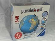 Ravensburger 3d Globe 540 Piece Puzzle And Stand New