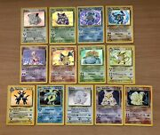 Pokemon Card 1st Edition / Unlimited Base Set Holo Lot Of 13 Lightly Played