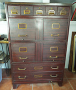 Antique 1910s Painted Steel Sectional Filing Cabinet Art Metal Co Office Stacker