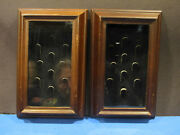 Two Unique 10 Count Glass Front Thimble Cases. Wood Frames 9 3/4 By 6 1/4