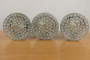 3 Vintage Bubble Glass Wall Lamps Or Flush Mounts Nos Hustadt Germany Mid Centur