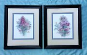 2 Mary Bertrand Signed Limited Edition Watercolor Print - Framed Ethan Allen