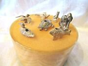 Vintage Reed And Barton 7 Silver Plated Animal Birthday Candle Holders