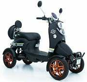 Electric Mobility Scooter Black Brand New 60v100ah 600w Free Engineered Delivery