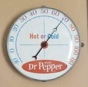 Vintage 1960and039s Dr. Pepper Advertising Thermometer By Pam Clock Co Exc. Cond