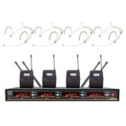 Headset Head Microphone Mic Uhf 4 Channel Outdoor Microphone For Shure Wireless