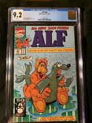 Alf 48 Cgc 9.2 Marvel Controversial Risquandeacute Seal Cover 1991 White Pages Very Rare