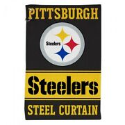 Pittsburgh Steelers All Purpose Golf Tailgate Towel 16x25 Hook And Grommet