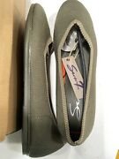 New Seven 7 Brand Footwear. Olive Color Slip On Flats. Canvas Like Material. S10
