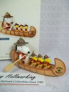 Hallmark 2008 Beagle Scout Day Out Ornament Snoopy And Woodstock Peanuts Gang