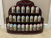 Disney Lenox Spice Jars Set Complete Collection 1995 With Rack