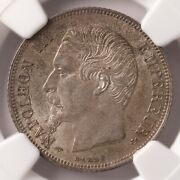 1860a Hand France Franc Ngc Certified Ms62 Mint State Certified French Coin