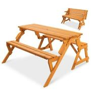Wooden Outdoor Bench Picnic Table Patio Furniture Set Dining Tables Backyard New
