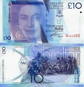 Gibraltar 10 Pound Banknote World Paper Money Unc Currency Pick P36 2010 Queen