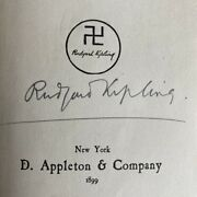 Rudyard Kipling Signed First American Edition And039many Inventionsand039 New York 1899