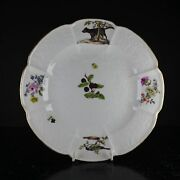 Meissen Gotzkowsky Andlsquohunt Serviceandrsquo Plate With Dog And Bird C. 1760