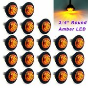 Side Marker Clearance Lights Trailer Truck 3/4 Inch Accessories Lamp Parts