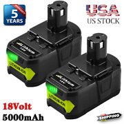 2x 5.0ah Replacement Battery For Ryobi P108 18 Volt One+ Plus Li-ion Power Tools