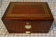Humidor By Cuban Crafters Of Miami -- Looks Great With Inlaid Top, Drawer, Tray
