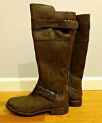 Ugg Boots Knee High Brown Leather Suede Women's Size 7 Uk 5.5 Eu 38 Nwob