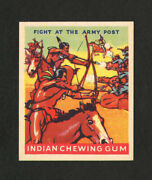 1933 Goudey Indian Gum 186 Fight At The Army Post From Original Collection