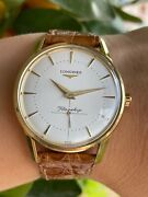 Longines Flagship Heritage L4 746 6 Watch Automatic Gold 18k Solid Mens 35mm