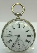 Antique Cylindre 4 Rubis Open Face Key Wind Pocket Watch - H2573