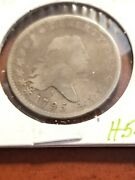 1795 Flowing Hair Silver Half Dollar Full Date And Liberty  Inv05  H501