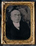 Post Mortem Quarter Plate Ambrotype Of Elderly Man With Spectacles