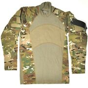 Massif Us Army Combat Shirt Mens Xs Long Sleeve Flame Resistant Camo Free Ship
