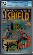 Cgc 7.0 Nick Fury Agent Of Shield 1 1st Solo Series 1968 Steranko Cover And Art