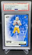 2020 Playoff Justin Herbert Rc 4th Down 203 Andrsquod 7/10 Chargers Psa 9 Mint Pop 1
