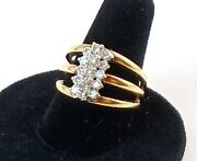 Estate Vintage 1.5ct Diamond And 14k Gold Cluster Ring Size 8