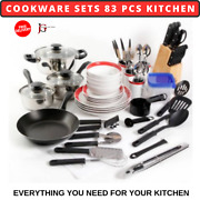 Cookware Sets 83 Pcs Kitchen Pots And Pans W/ Lids Stainless Steel Eco-friendly