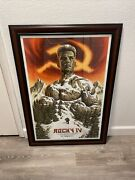 Rocky 4 Poster Jason Edmiston Sold Out Print Not Mondo Framed Hand Number 71/150