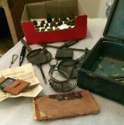 Antique Chelsea Filter Antique Case Scale Weights And Moe Diamond Booklet
