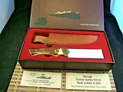 Uncle Henry 144 Usa Guideand039s Choice Vintage 1979 Fixed Blade Knife Box And Sheath