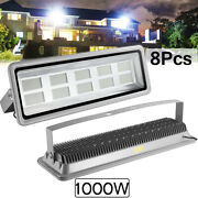 8x 1000w Led Flood Light Cool White Camping Outdoor Lighting Security Wall Lamp